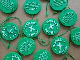 Wholesale plastic x - Wholesale In Stock X Green Circular Tag Plastic Shoe Buckle
