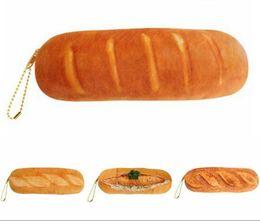 Cajas de lápices para niñas online-DHL niñas gran capacidad de simulación de pan bolsa de lápiz carteras monedero caja de papelería creativa wuli bolsa de papelería masculina MEF