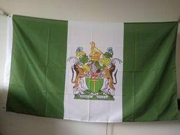 Rhodesien Flagge 90 x 150 cm Polyester Afrika Rhodesian National Country Banner von Fabrikanten
