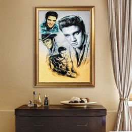 "2019 ondas de pinturas abstratas Quadrado Cheio / Rodada Broca 5D DIY Pintura Diamante ""Elvis Presley"" Bordado Ponto Cruz Mosaico Home Decor Presente"