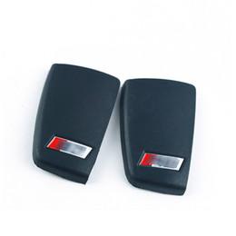 audi a3 keys Desconto S3 RS logotipo caso chave tampa traseira para Audi A3 S3 Q3 A6 L TT Q7 R8 Três-botão chave do carro modificado shell chave luva