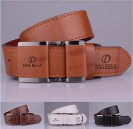 Wholesale 32 Leather Pants - Belt 2018 Mens Belts Luxury Genuine Leather For Men Business Belt Brand Jeans Pants Black Automatic Buckle Cinturones