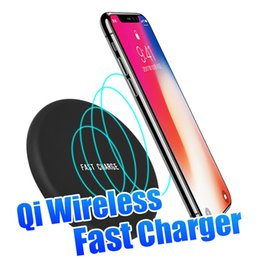 Wholesale Apple Certified - 10W Standard Qi-Certified Ultra Slim Wireless Charger Portable Qi Charging Pad for iPhone X 8 Samsung S9 Note 8 with Retail Packaging