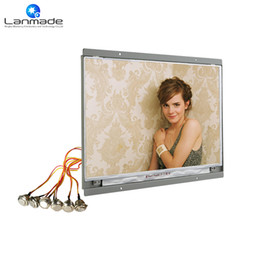 Wholesale Bus Lcd - 14'' 1080p external button bus lcd monitor open frame tablet lcd ad player advertising screens display advertising types