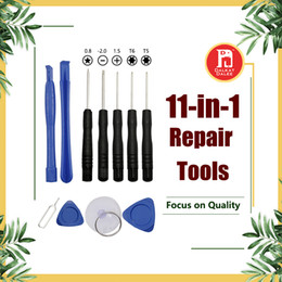 Wholesale Dhl Free Cell Phone - 11 in 1 Screw Driver Tool Kits Cell Phone Repair Replecement Tools Set For iPhone iPad Samsung Sony Motorola LG Blackberry Free DHL
