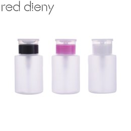 plastic container nail NZ - 160ml Empty Pump Dispenser Plastic Atomizer Spray Bottles Cosmetics Nail Polish Remover Containers Liquid Bottles Nail Tools