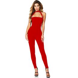 c22469b3 Colysmo Halter Sexy Jumpsuit Mujeres Summer Jumpsuits Plus Size Monos Body  de cintura alta largo Skinny Playsuit Elegantes mamelucos en venta