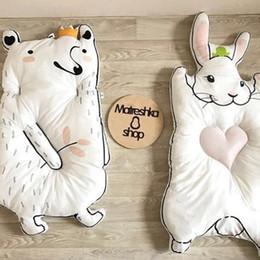 coniglio di stuoia Sconti Tappeti di cotone rotondi Coniglio Raccoon Gioco Tappetino per bambini intorno ai bambini Giocattolo per bambini Fotografia Puntelli in stile nordico Kids Room Decor