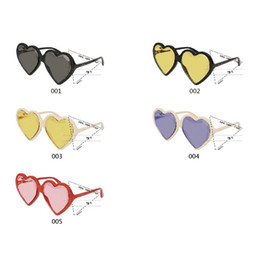 9df3724542d Luxury 0360 Sunglasses For Women Popular Heart Frame Fashion Model UV  Protection Lens Summer Style Top Quality Come With Case