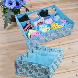 Wholesale Case Closet - Practical 12 Cell Socks Underwear Ties Drawer Closet Home Organizer Storage Box Case Blue Free SHipping