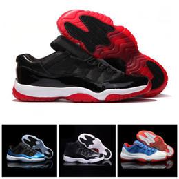 air noir de carbone Promotion Drop Shipping Nike Air Jordan 11 Retro Space Jam Spaces Jams Noir Bleu avec de vraies Fibres de Carbone pour Hommes Basketball Sport Chaussures Top qualité 11 s Sneakers Taille 8-12