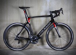 Wholesale wheel black 18 - Black-Red R8010 Groupset Colnago Concept complete bike including Concept carbon road Frames , 50mm carbon wheels free shipping