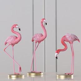Creative Europe type Résine Rose Flamingo Décoration de Maison Figure pour Fille Ins Chaud Décor À La Maison Cadeaux Livding ornements de chambre ? partir de fabricateur