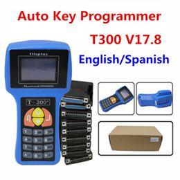 2019 universeller schlüsseltransponder Schlüsselprogrammierer T300 Neueste Englisch Und Spanisch V17.8 Professionelle Autoschlüssel t300 Maker Rodan Auto Auto werkzeuge DHL-freies verschiffen