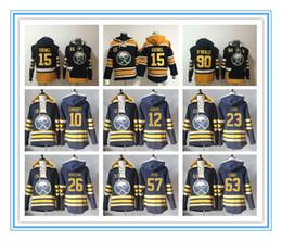 Wholesale 23 Sweatshirt - Buffalo Sabre 15 Jack Eichel 90 Ryan O'Reilly Pocket Sweatshirt 12 Brian Gionta 23 Ville Leino Stitched Hoodies, Accept Custom Name Number