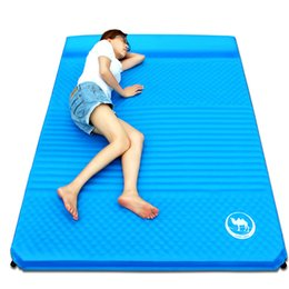 Wholesale Pat Mat - Camel Foldable Camping Mat 2 Person Air Mattress Cushion Mat Outdoor Moistureproof Yoga Sleeping Pat Ultralight Outdoor