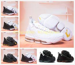size 40 8706d e2dd1 James 15 XVI 16 Schwarz Weiß Gold BHM Basketball Schuhe für Top-Qualität Herren  sportlich 16s Wolf grau Sport Größe 7-12 mit Box preiswerte größe 16 männer  ...