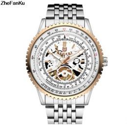 4b0ecfe5d4351 2018 New Man Relógios De Aço Inoxidável Cinto De Malha de Quartzo de Luxo  Mens Relógios De Pulso Esportes À Prova D  Água Preto Oco