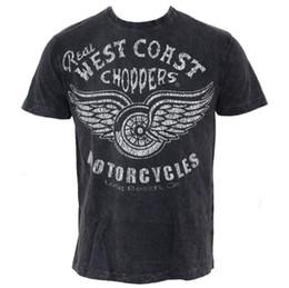 Helicóptero vintage on-line-T-shirt de Herren Choppers da costa oeste - vintage real - preto - Größe XXL