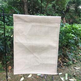 Bandeira do jardim de linho de poliéster 12x16 jardim em branco bandeira para sublimação simples quintal decoração bandeira bandeira ao ar livre de Fornecedores de roupa de exterior