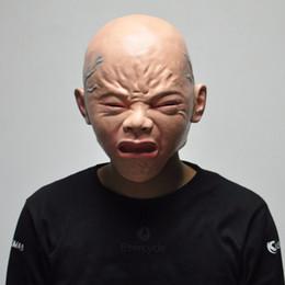 Sıcak Satış Ağlayan Bebek Maskeleri Cadılar Bayramı Korkunç Cosplay Sahne Yetişkin Lateks Parti Maskesi nereden