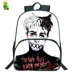 Libros grandes online-Popular Rapper Xxxtentacion mochila mochilas escolares para adolescentes estudiantes mochilas de gran capacidad para hombres mujeres mochila diaria