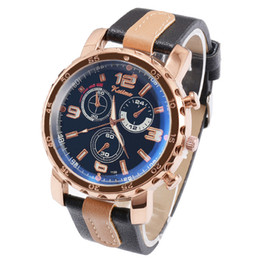 Moda Blue Ray Glass Luxury Mens Relojes Marca Sport Reloj militar Correa de cuero Cuarzo Relojes de pulsera Hombre Reloj Relogio Masculino desde fabricantes