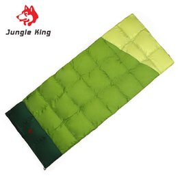 Wholesale King G - Jungle King 2018 new outdoor camping lovers down sleeping bag envelope type winter and autumn 300 g duck down nylon 0 degrees