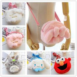 70f9890618 Hello Kitty My Melody Cinnamoroll Dog Totoro Shoulder Bag Cartoon Plush Toy  Handbag Children Shoulder Bag For Girls Handbag Gift