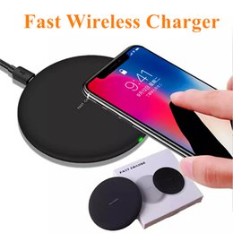 Wholesale 5v power bank - For iPhone X Qi Wireless Charger Fast Charger Charging 9V 1.67A 5V 2A For Samsung S7 S8 Note 8 With Retail Package