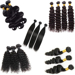Wholesale Cheap Blonde Curly Weave - Cambodian virign human hair bundles natural black Cheap Wholesale Price kinky straight loose deep body wave curly human hair weave weft