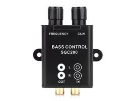 Controle remoto bluetooth para telefone on-line-Carro Universal Amplificador Remoto Subwoofer Equalizador Crossover Bass Controlador Novo