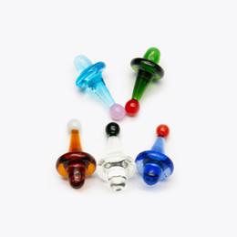 Cúpula de tubos on-line-Vidro quente ufo carb cap dome para banger quartz unhas de tubos de água de vidro, plataformas de petróleo dab bongo de vidro frete grátis