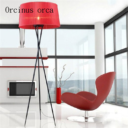 Wholesale Modern Lamp Posts - Post-modern Nordic cloth art three feet floor lamp living room study decorative lamp simple art vertical desk