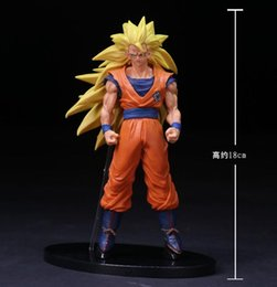 Wholesale Figure Painting Models - Dragon Ball Z Son Gokou 1 8 scale painted Super Saiyan Son Gokou Doll ACGN PVC Action Figure Collectible Model Toy 20cm KT2861