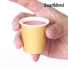 18 bolos de aniversário Desconto 5000 x 2 oz / 60 ml mini copos de degustação de papel branco / marrom café supermercado promoção amostra bebendo xícara de chá atacado