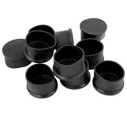 válvulas solenóides pneumáticas Desconto Tampa redonda flexível de borracha preta do pé de 50mm do tampão de extremidade dos PCes de NHBR 10