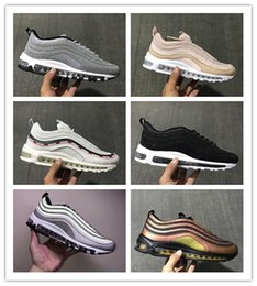 Wholesale womens discount running shoes - Discount Mens Womens Shoes 97 Gold Pink Silver Skepta Undefeated Running Shoes Sneakers Men Athletic Outdoor Shoes size 36-46 Sneakers