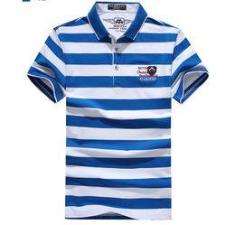 Wholesale linen mens clothing - Polo Shirt Men Cotton Casual Slim Fit Classic Striped Polos Shirts Short Sleeve Mens Polo shirt Summer Clothing Plus Size 3XL