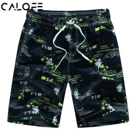 Wholesale Quick Drying Swim Trunks - CALOFE 2018 Men Summer Beach Short Plus Size 6xl Shorts Men Board Surfing Swimming Boxer Trunks Bathing Suits Quick Dry Shorts