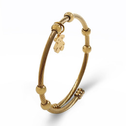 Wholesale Christmas Gift Specials - TL Special Chain Charm Gold Filled Bear Bracelet Brand Jewelry Fashion Classic High Quality Cute Excellent