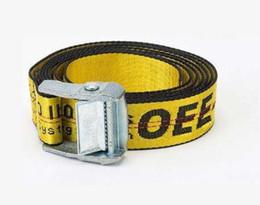Wholesale Copper Man - O WHITE Belts Men Extend Long 200CM Long Fashion Yellow Belt Women Hip hop Streetwear Skateboards Virgil Abloh Industrial