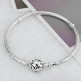 Wholesale Diy European Bracelets 925 - 2018 New Original 925 Silver Small Hole Beads Charm Bracelets Fit European Pandora roun Charms Bracelet DIY Fashion Jewelry