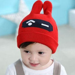 2018 New Arrival Autumn Winter Children Hats Boys Girls Cotton Caps Baby  Knit Hats Cartoon Red Yellow Blue Pink Black 1PCS Lot 9daf130c415b