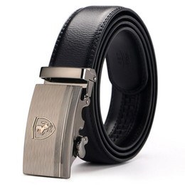 [Veroseice] High Quality Car Logo Horse Automatic Buckle Cowskin Men's Belts  Large Genuine Leather Strap Belt for Men от
