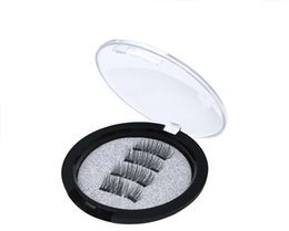 2019 fibra magnética High-grade Fiber Hair Lashes Magnéticos feitos à mão Natural Longo 2 Ímãs Cílios Postiços DHL Livre