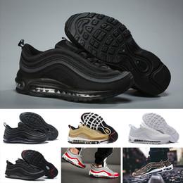 outlet store 194b4 7d132 Nike Air Max 97 basketball shoes running shoes Undftd Preto Velocidade DS  DS Sapatos Masculinos Para Homens Sapatos de Manhã exercício morning shoes    venda