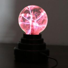 3 '' Magic Plasma Ball Kids Room Party Decoración de Navidad Esfera electrostática Lightning Lightning Light Luminaria Touch Control desde fabricantes