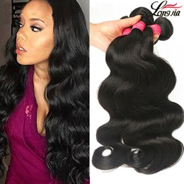 Wholesale Wavy Remy Human Hair Extensions - Brazilian Virgin Hair Body Wave Bundle Unprocessed 8A Brazilian Virgin Remy Human Hair Extensions Malaysian Virgin Hair Wet And Wavy Weave