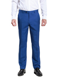 new men formal pant style Promo Codes - Men's Formal Business Slant Pocket Slim Straight Trouser Blue Pants With New Arrival Style For Wedding Male Leisure Suit Pants